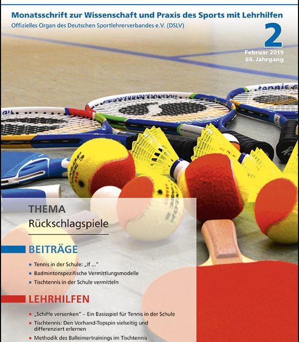 Neue Ausgabe Zeitschrift Sportunterricht: Februar 2019
