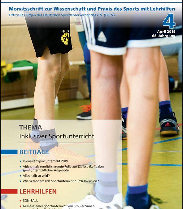 Neue Ausgabe der Zeitschrift Sportunterricht: April 2019
