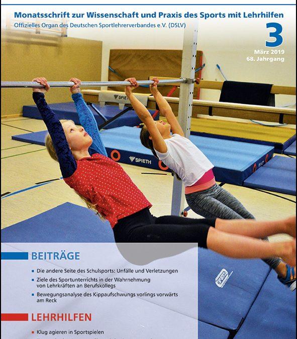 Neue Ausgabe der Zeitschrift Sportunterricht: März 2019
